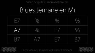 Blues ternaire en Mi (70 bpm) : Backing track (bass/drums only)