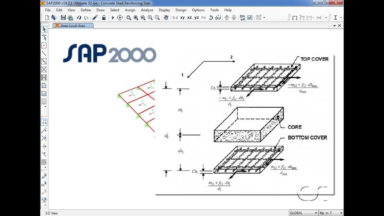 SAP2000 - 34 Concrete Shell Reinforcement Design: Watch & Learn