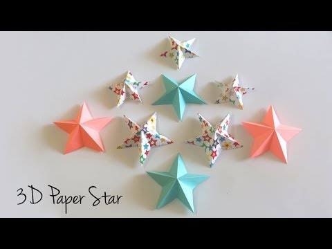 3D Paper Star | Origami Star | Paper Crafts Easy | Christmas Star Paper Decoration