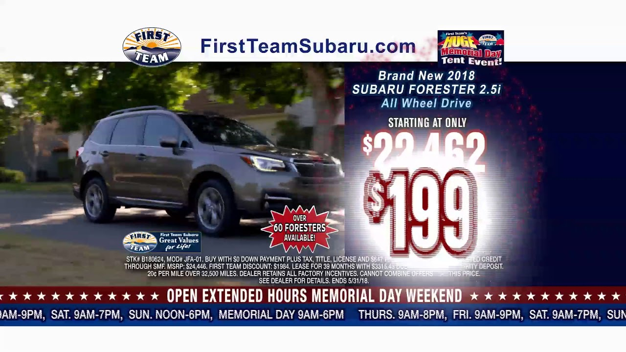 First Team Subaru >> First Team Subaru Huge Memorial Day Tent Event Sale Youtube