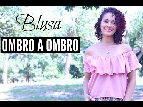DIY- BLUSA OMBRO A OMBRO FÁCIL   DAYSE COSTA
