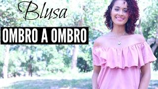DIY- BLUSA OMBRO A OMBRO FÁCIL