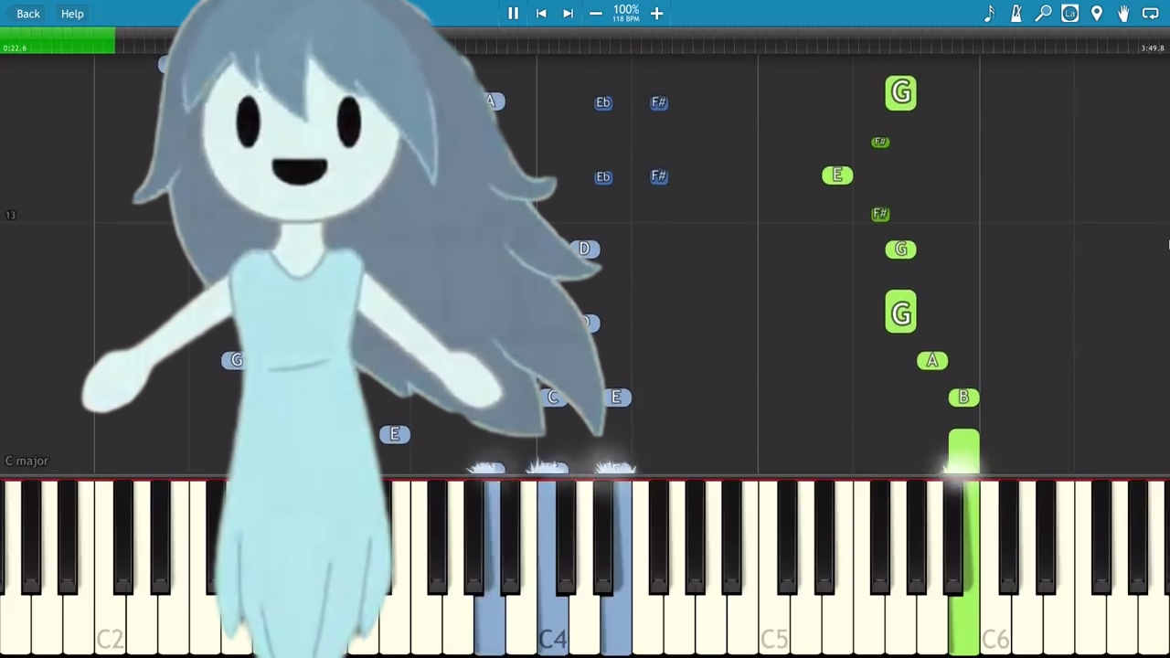 Spooky\u0027s Jump Scare Mansion Song (1000 Doors) - The Living Tombstone - Piano Cover / Tutorial