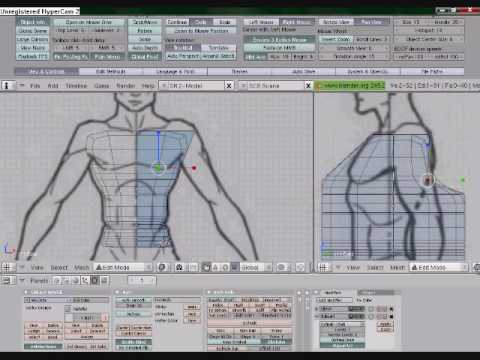 Modeling the human with blender 249b part 1 youtube modeling the human with blender 249b part 1 malvernweather Images