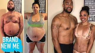 Couple Goals: Our 1 Year Body Transformation Losing 220lbs | BRAND NEW ME