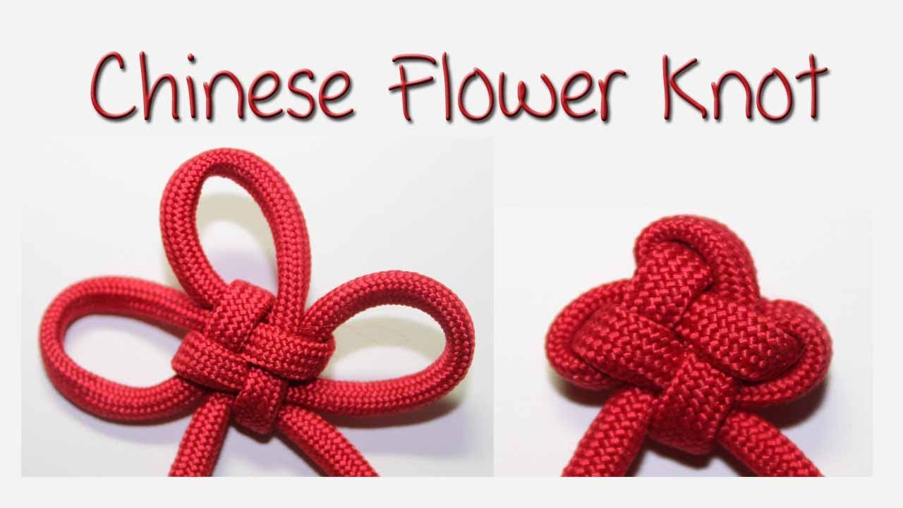 Tutorial: Chinese Flower Knot (3 Petal Version) - YouTube