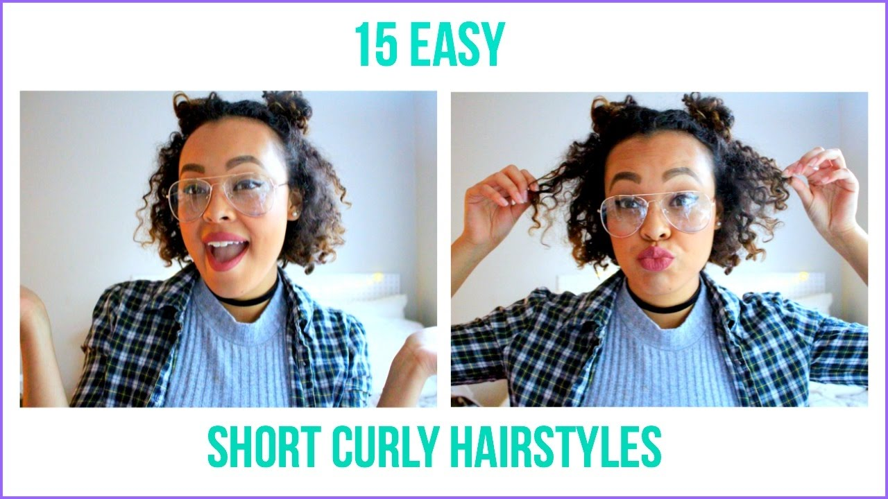 15 easy short curly hairstyles