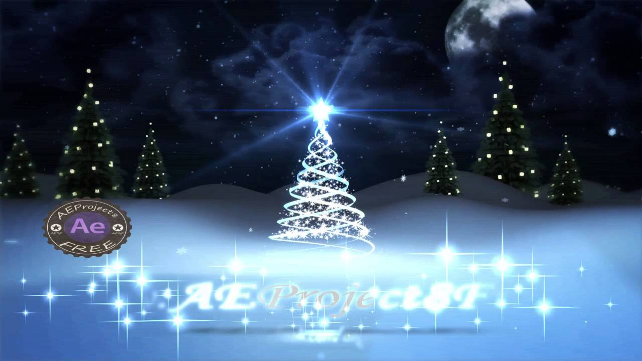 After Effects Project FREE Merry Christmas 2015 YouTube