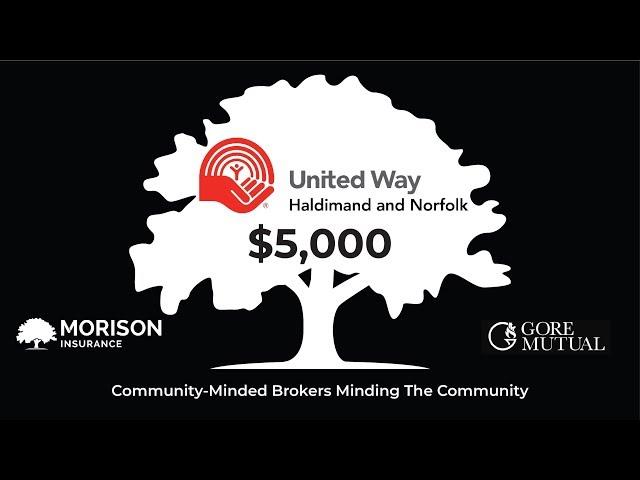 Morison Insurance & Tri-County Insurance Donates $5,000 to United Way