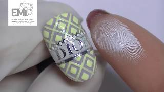 Мастер-класс дизайн ногтей DIOR. Фактура на ногтях.