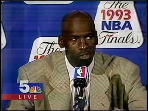 MICHAEL JORDAN - 1993 NBA FINALS GAME 4 - POST GAME INTERVIEW - MJ SCORES 55 POINTS!!