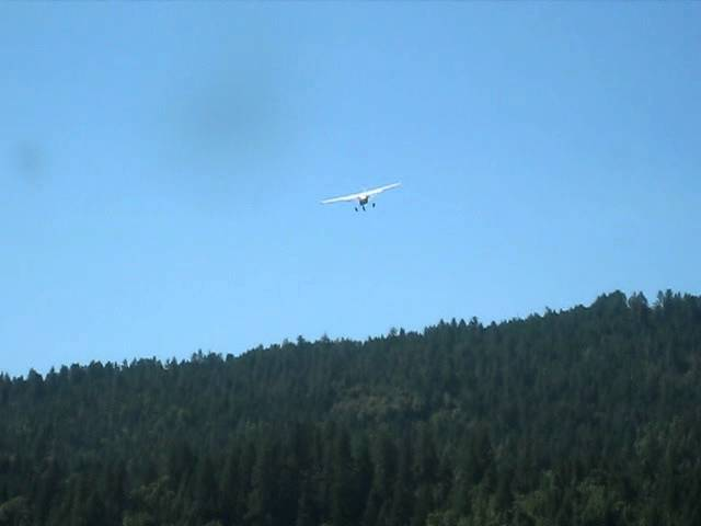 Cessna 182 take off at Agness, OR