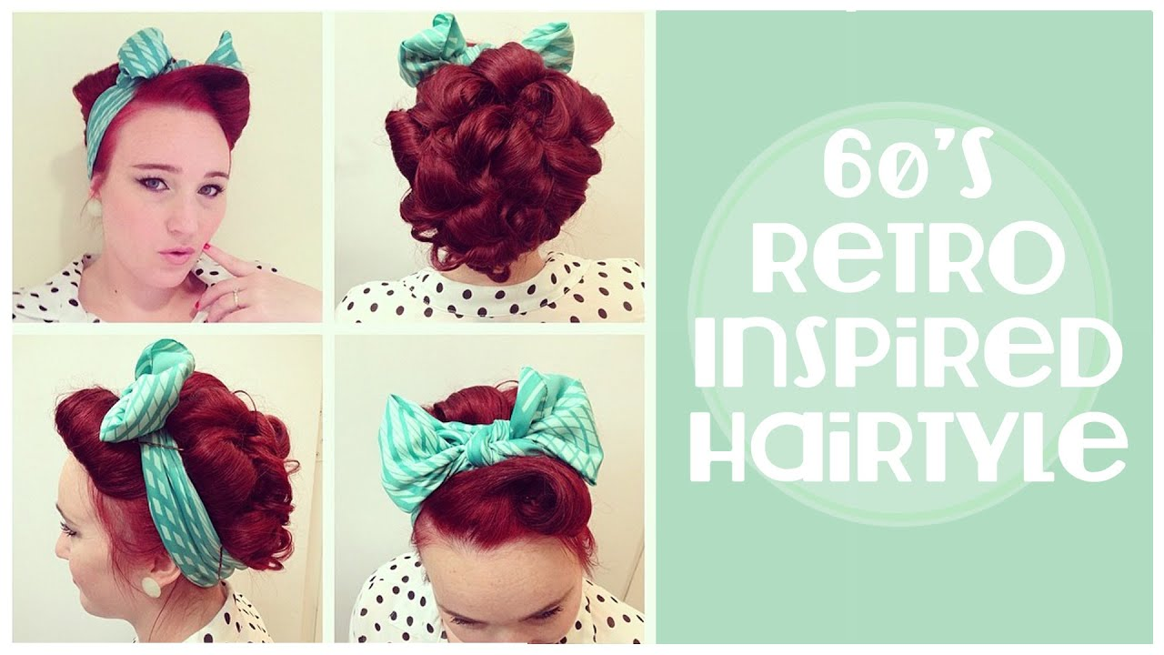 vintage hairstyle: 60's inspired updo and front barrel roll - youtube