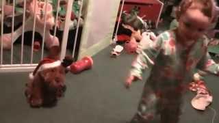 Munch Dancing And Spinning To Xmas Singing Reindeer