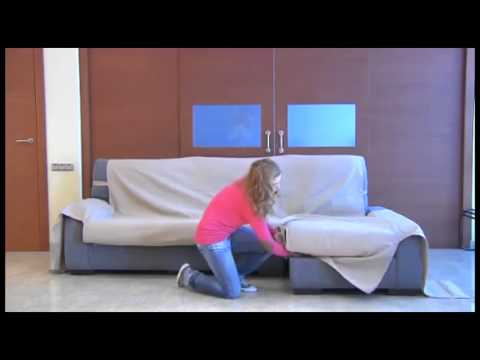 Como montar funda cubre sofa chaise longue youtube - Fundas para sofas con chaise longue ...
