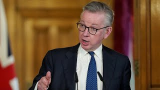 Watch again: Michael Gove gives government's daily coronavirus update