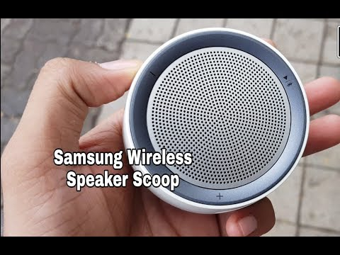 This portable wireless speaker is so cool !! Scoop design by Samsung