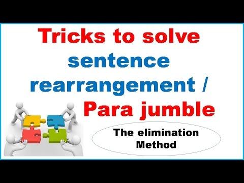 Tricks to solve Sentence Rearrangement (Para jumble) For SBI