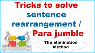 Tricks to solve Sentence Rearrangement (Para jumble)  For SBI PO/ Bank PO - Study Capsule