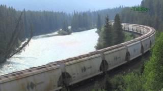 Canadian Pacific Train, Morants Curve, Banff, Alberta Canada