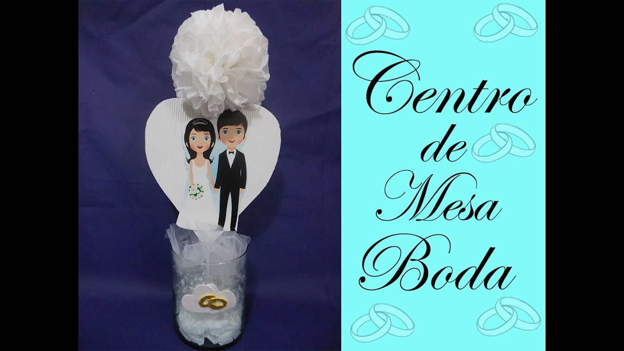 Centro de mesa para boda wedding centerpiece youtube - Manualidades centro de mesa ...