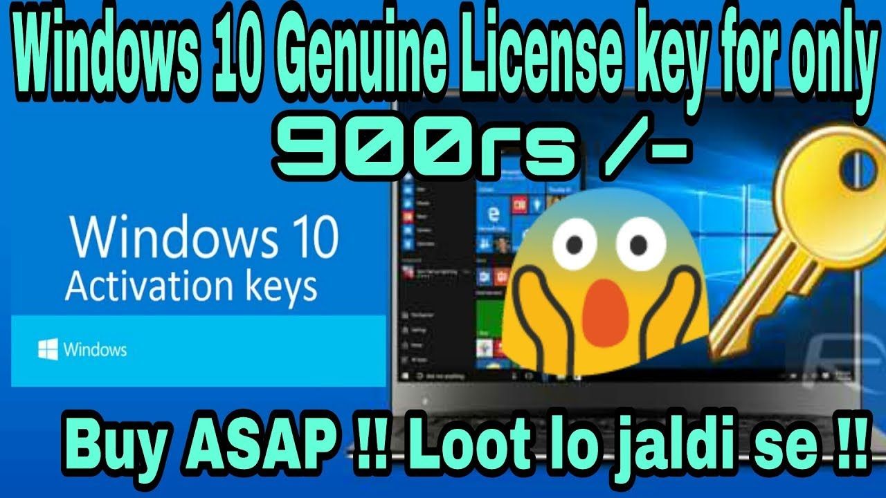 Buy Windows 10 genuine License key for only 900rs 🔥😱!! Buy ...