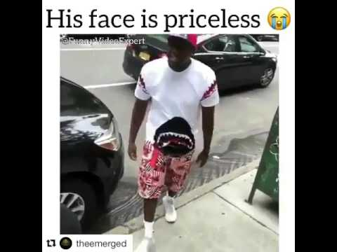 Black guy tears friend's Bape shirt (IG is @uly ss es)