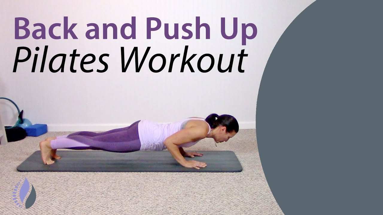 Pilates Back and Push Up Workout | Short and Effective Pilates Workout
