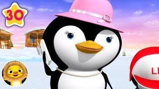 5 Little Penguins!   Nursery Rhymes & Kids Songs!   Videos For Kids   Little Baby Animals
