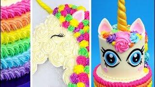 Amazing Unicorn Themed Cakes | Rainbow Unicorn Buttercream Decoration