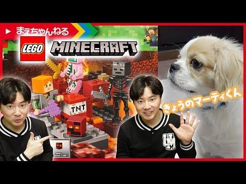 [分身] 寸劇あり!【レゴ マインクラフト】暗黒界の戦い LEGO MINECRAFT THE NETHER FIGHT 21139 / 今日のマーティ君 #46 | まえちゃんねる