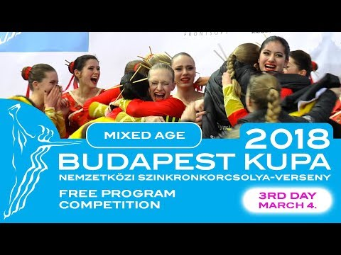 Budapest International Cup | MIXED AGE - FREE PROGRAMS | 4. March 2018.