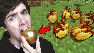 Minecraft But I Eat The Food in Real Life...