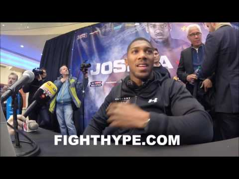 """ANTHONY JOSHUA REACTS TO DEONTAY WILDER FACING GERALD WASHINGTON: """"WHAT'S YOUR OPINION"""""""