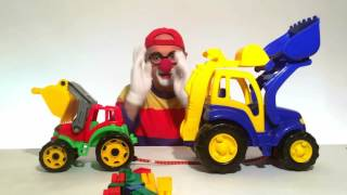 विदूषक , ट्रैक्टर , क्यूब्स ( clown. tractor. cubes . Games for children)