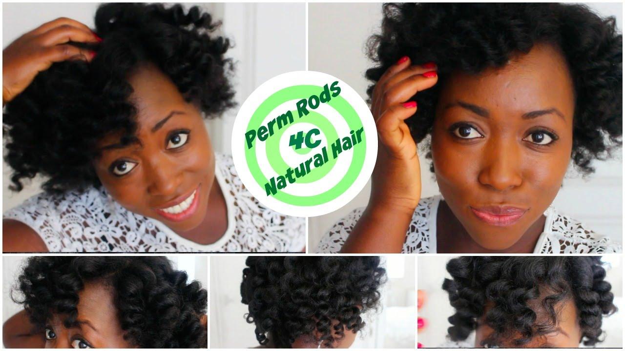 Perm Rod Set On 4c Natural Hair Heatless Curls Overnight After