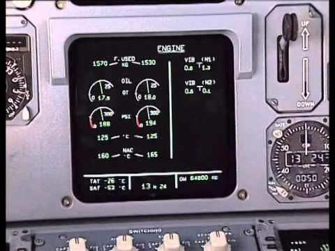 A320 ECAM engine data