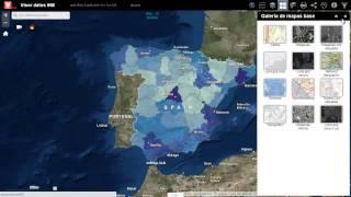 Proyecto Final Máster GIS Online de ESRI - Visor de datos INE España