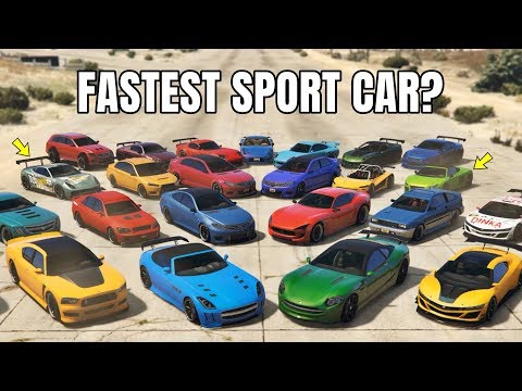 GTA V Online: Which Is Fastest Sport Cars | 1/4  DRAG RACE (TOP 10 FASTEST SPORT CAR)