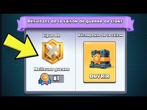 PACK OPENING Clash Royale! Meilleur Coffre de GUERRE DE CLAN: LIGUE OR