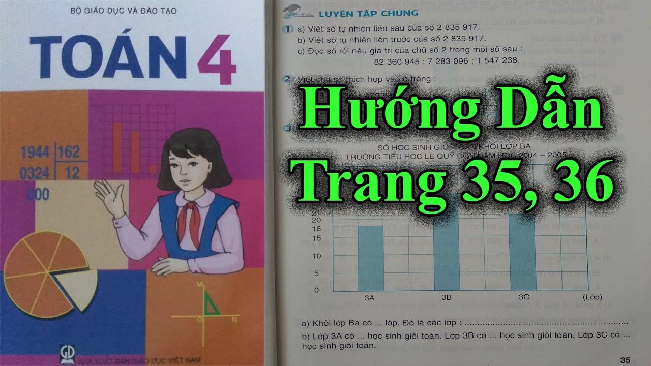 Hướng Dẫn Giải  SGK Toán Lớp 4 Tiểu Học – Trang 35, 36