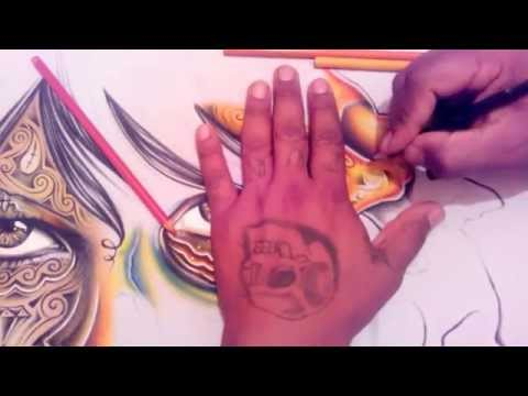 HOW TO DRAW AWESOME CHICANO ART !!!!!!!!!!!!!!!!!!!!!!!!!!!!!!!!!!