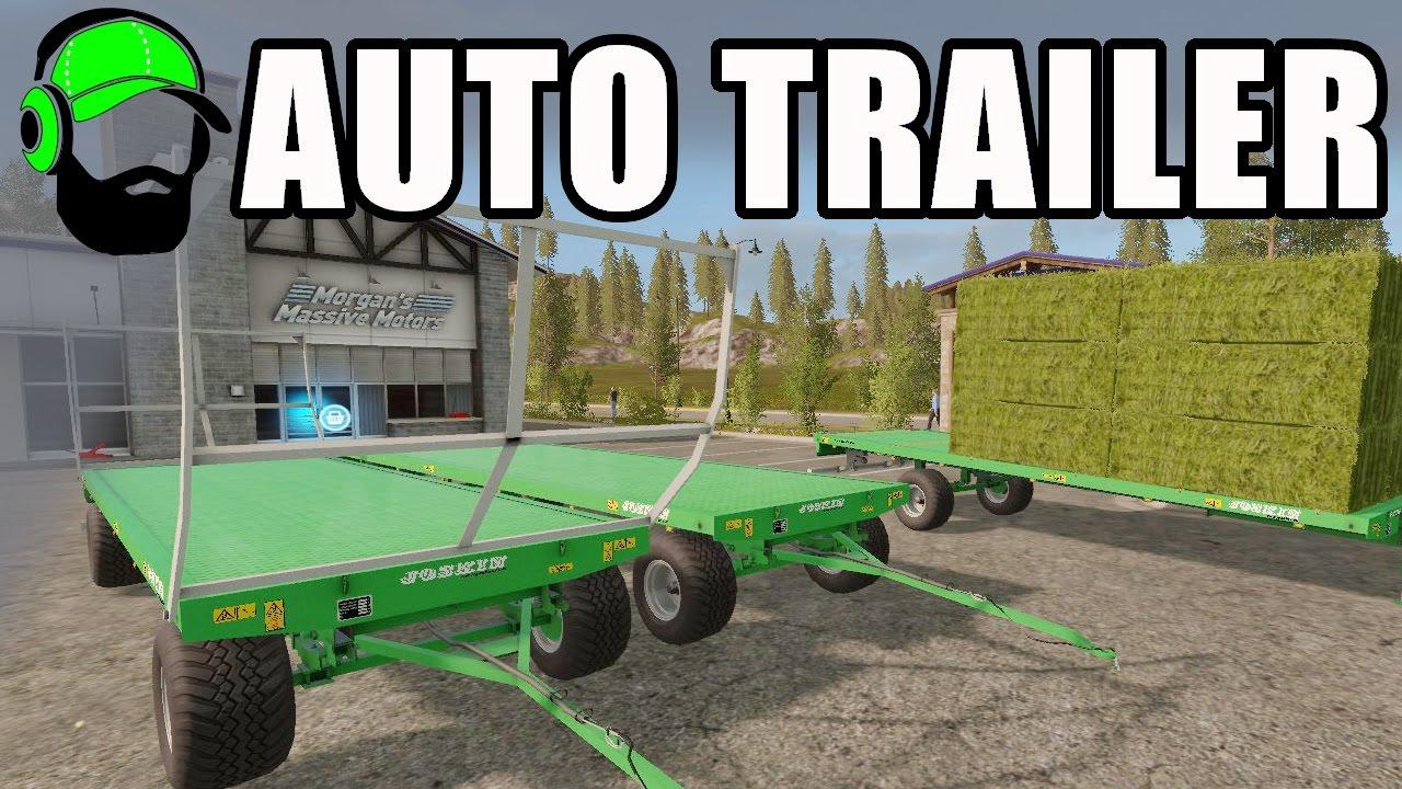 farming simulator 17 mod auto bale loading trailer youtube. Black Bedroom Furniture Sets. Home Design Ideas