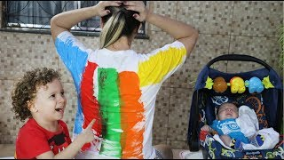 LEARN COLORS FOR CHILDREN BODY PAINT FINGER FAMILY SONG NURSERY RHYMES LEARNING 02