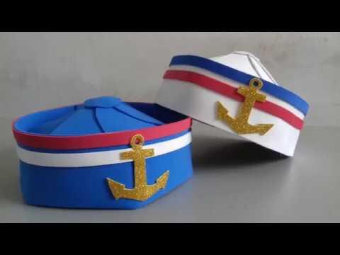 ef30ab8c33cba Como fazer chapéu de marinheiro - YouTube