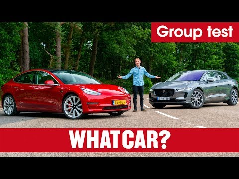 2019 Tesla Model 3 vs Jaguar I-Pace SUV review – which is best? Electric car showdown | What Car?