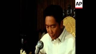 SYND14/11/71 PRESIDENT  FERDINAND MARCOS AND WORLD BANK PRESIDENT, ROBERT MCNAMARA, MEET