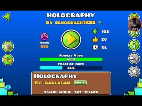 Nostalgia :'v. Mi Primer Nivel De GD. HOLOGRAPHY By ElNoCrack1232 (me) | Geometry Dash