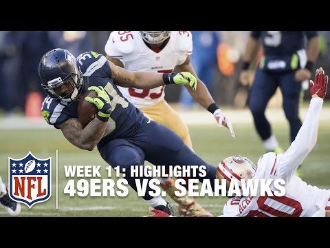 49ers vs. Seahawks   Week 11 Highlights   NFL