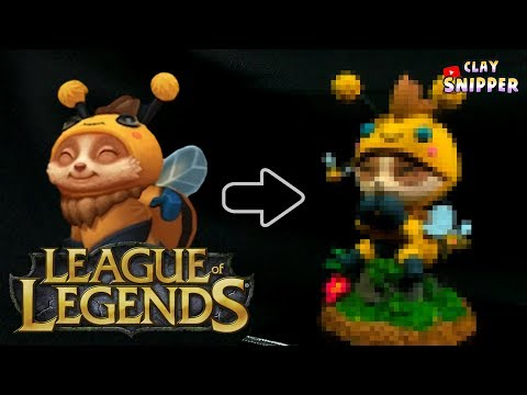 """League of Legends lovely """" Beemo """" Clay art tutorial!"""